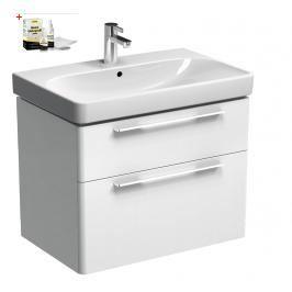 Koupelnová skříňka s umyvadlem Kolo Kolo 75x71 cm bílá lesk SIKONKOT75BL