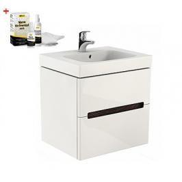 Koupelnová skříňka s umyvadlem Kolo Modo 50x63 cm bílá lesk SIKONKOM50BL