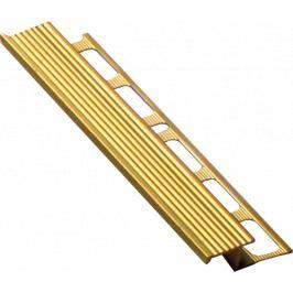 Lišta schodová Z mosaz, délka 250 cm, výška 10 mm, šířka 20 mm, MOSC10250