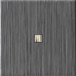 Dekor Imola Blown antracit 10x10 cm, mat BLOWN10N1