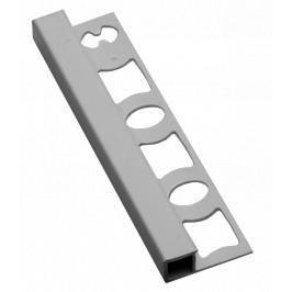 Lišta ukončovací hranatá PVC světle šedá, délka 250 cm, výška 10 mm, LH102503