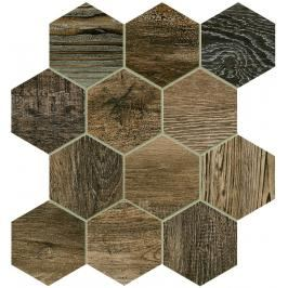 Dlažba Dom Barn Wood brown 35x37,5 cm mat DBWEM60