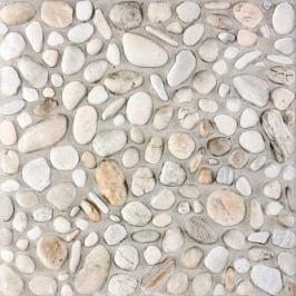 Dlažba Rako Pebbles bílá 33x33 cm, reliéfní DAR3B700.1