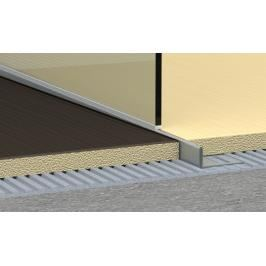 Spádový profil do sprchového koutu pravý nerez kartáčovaná, délka 120 cm, výška 10 mm, SPNRZK10120P