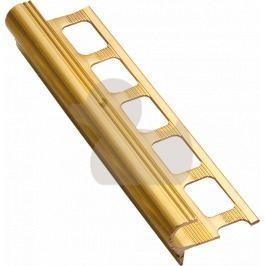 Lišta schodová dekorační mosaz, délka 250 cm, výška 10 mm, MOD10250