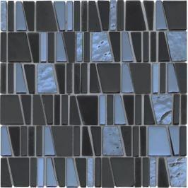 Premium Mosaic Mozaika sklo Cube černá MOSCUBEBK