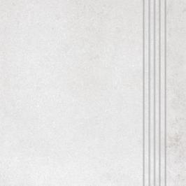 Schodovka Rako Form světle šedá 33x33 cm reliéfní DCP3B695.1