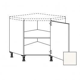 Kuchyňská skříňka rohová spodní Naturel Erika24 90x72x90 cm bílá lesk 450.UED90.R