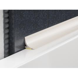 Lišta vanová PVC bílá, délka 250 cm, výška 15 mm, VRDP