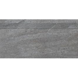 Schodovka Rako Quarzit tmavě šedá 30x60 cm mat DCPSE738.1