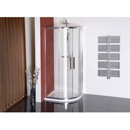 Sprchový kout asymetrický 90x80x200 cm Polysan LUCIS chrom lesklý DL5215
