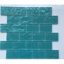 Skleněná mozaika Premium Mosaic tyrkysová 30x30 cm lesk MOS4872TU