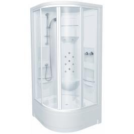 Sprchový box čtvrtkruh 100x100x227 cm Teiko PACIFIC bílá V271100N00T04021