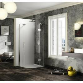 Sprchový kout čtvrtkruh 100x100x200 cm pravá Huppe Solva pure chrom lesklý ST2002.092.322