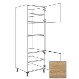 Kuchyňská skříňka vysoká Naturel Sente24 pro troubu a MW 60 cm dub sierra 405.GMDK02.R