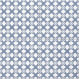 Dlažba Tonalite Aquarel blu mizar 15X15 cm mat AQUMIZBL