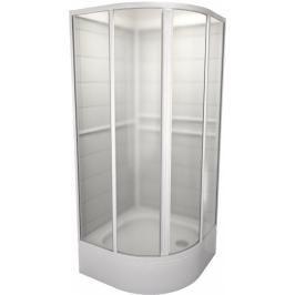 Sprchový box čtvrtkruh 90x90x185 cm Teiko SBOXKH bílá V323090N51T22001
