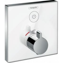 Sprchová baterie Hansgrohe Showerselect Glass bez podomítkového tělesa bílá/chrom 15737400