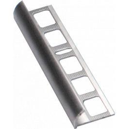 Lišta ukončovací oblá hliník přírodní, délka 250 cm, výška 10 mm, ALO10250