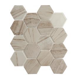 Skleněná mozaika Premium Mosaic béžová 26x30 cm mat / lesk MOSV84LIGHT3D