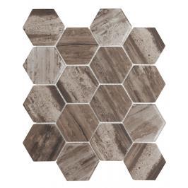 Skleněná mozaika Premium Mosaic hnědá 26x30 cm mat / lesk MOSV84DARK3D