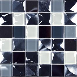 Skleněná mozaika Mosavit Kubic gris 30x30 cm mat / lesk KUBICGR