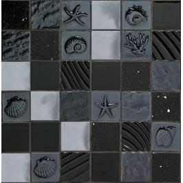 Skleněná mozaika Mosavit Marina negro 30x30 cm mat / lesk MARINANE