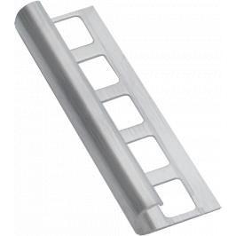 Lišta ukončovací oblá nerez kartáčovaná, délka 250 cm, výška 10 mm, NRZOK10250