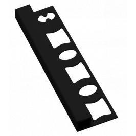Lišta ukončovací hranatá PVC černá, délka 250 cm, výška 8 mm, LH8250C