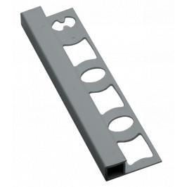 Lišta ukončovací hranatá PVC stříbrná, délka 250 cm, výška 8 mm, LH825023