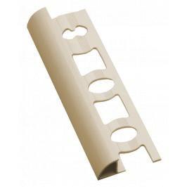 Lišta ukončovací oblá PVC krémová, délka 250 cm, výška 8 mm, L825024