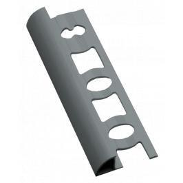 Lišta ukončovací oblá PVC stříbrná, délka 250 cm, výška 8 mm, L825023
