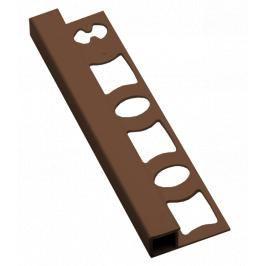 Lišta ukončovací hranatá PVC tabáková, délka 250 cm, výška 8 mm, LH825029