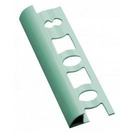 Lišta ukončovací oblá PVC světle zelená, délka 250 cm, výška 8 mm, L825011