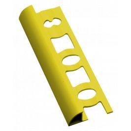 Lišta ukončovací oblá PVC žlutá, délka 250 cm, výška 8 mm, L8250Y