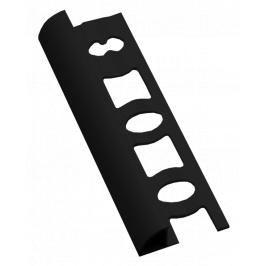 Lišta ukončovací oblá PVC černá, délka 250 cm, výška 8 mm, L8250C
