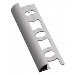 Lišta ukončovací oblá PVC bílá, délka 250 cm, výška 9 mm, L9250