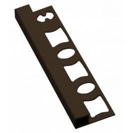 Lišta ukončovací hranatá PVC tmavě hnědá, délka 250 cm, výška 8 mm, LH8250H