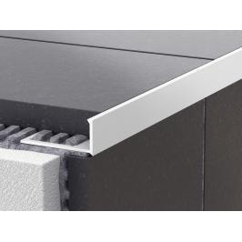 Lišta ukončovací L PVC bílá, délka 250 cm, výška 10 mm, LL10250