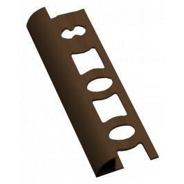 Lišta ukončovací oblá PVC světle hnědá, délka 250 cm, výška 8 mm, L825015