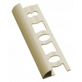 Lišta ukončovací oblá PVC slonová kost, délka 250 cm, výška 8 mm, L825003