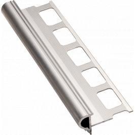 Lišta schodová dekorační hliník přírodní, délka 250 cm, výška 10 mm, ALD10250