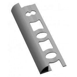 Lišta ukončovací oblá PVC světle šedá, délka 250 cm, výška 10 mm, L102503