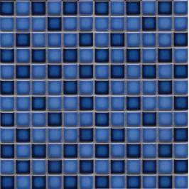 Keramická mozaika Premium Mosaic modrá 30x30 cm lesk MOS23MIXBL
