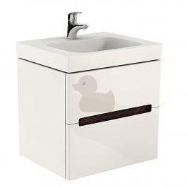 Koupelnová skříňka pod umyvadlo Kolo Modo 79x48x55 cm bílá lesk 89426000