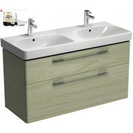 Koupelnová skříňka s umyvadlem Kolo Kolo 120x71 cm jasan bělený SIKONKOT2120JB