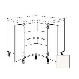 Kuchyňská skříňka rohová spodní Naturel Erika24 90x72x90 cm bílá lesk 450.UDTE90.L