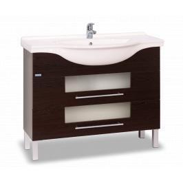 Koupelnová skříňka s umyvadlem Naturel Wenge 102x49,3 cm wenge WENGE100DV