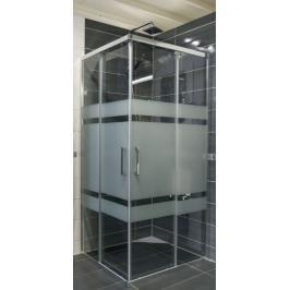 Sprchový kout čtverec 90x90x190 cm Siko TEX chrom lesklý SIKOTEXQ90CRS