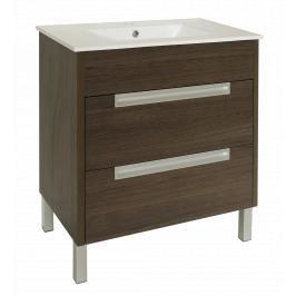 Koupelnová skříňka s umyvadlem Naturel Modena 75x46 cm dub šedý MODENA75DV
